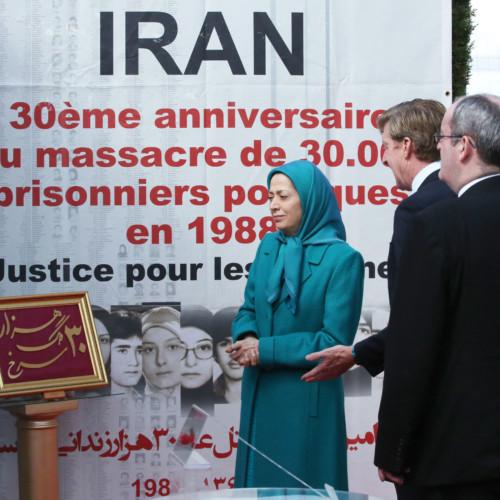 Célébration du 30e anniversaire du massacre de 30.000 prisonniers politiques de 1988 en Iran dans une conférence internationale d'associations iraniennes- 25 aout 2018