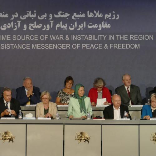 Maryam Radjavi – Discours au rassemblement international intitulé « La dictature religieuse, source de guerre et d'instabilité dans la région- 29 juin 2019