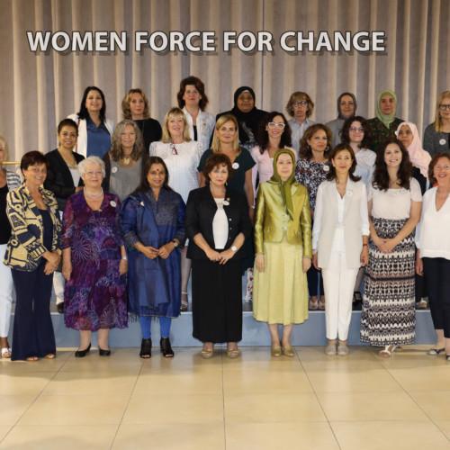 Maryam Radjavi à la conférence internationale sur les femmes d'avant-garde de la Résistance iranienne à la cité d'Achraf 3- 14 juillet 2019