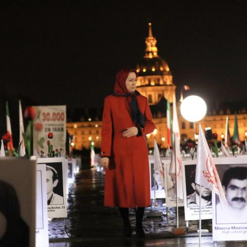 Maryam Radjavi à l'exposition sur « un crime contre l'humanité en Iran »- Paris- 29 octobre 2019