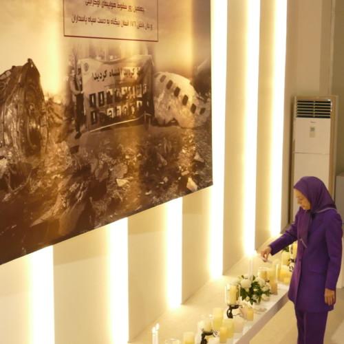 40e jour de commémoration des personnes ayant perdu la vie en Iran lors de la destruction de l'avion de ligne ukrainien – Février 2020