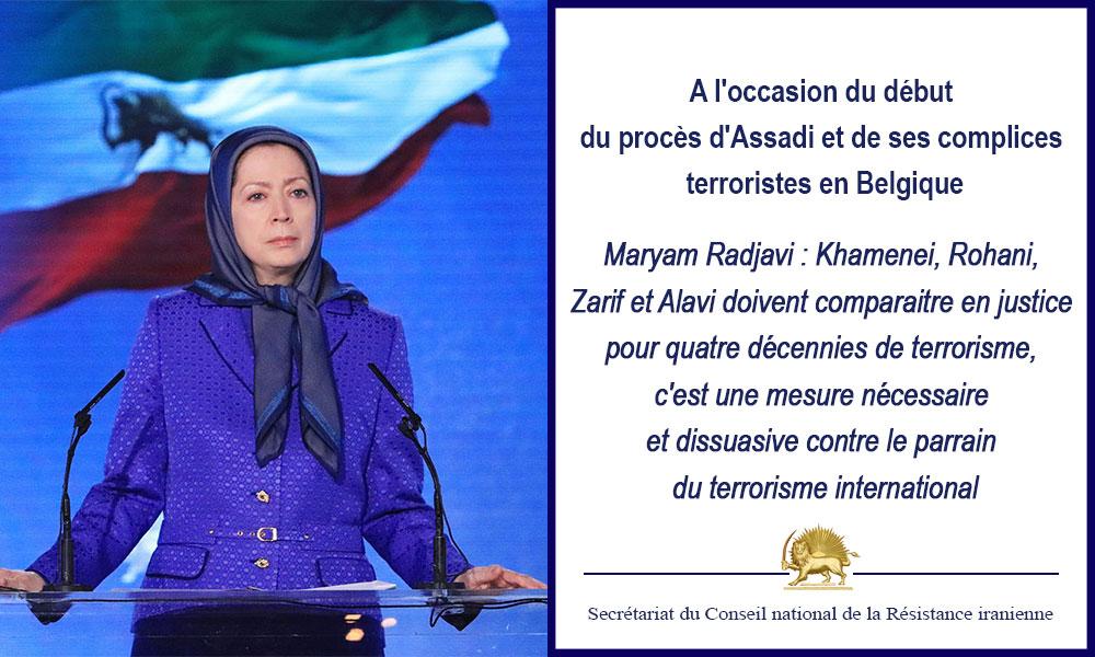 A l'occasion du début du procès d'Assadi et de ses complices terroristes en Belgique