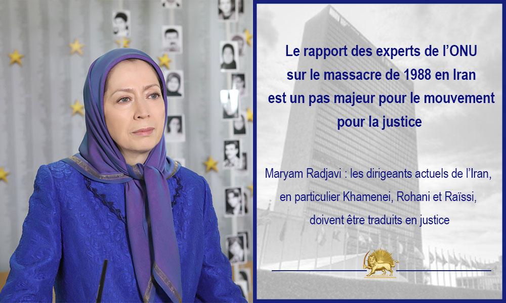 Le rapport des experts de l'ONU sur le massacre de 1988 en Iran est un pas majeur pour le mouvement pour la justice