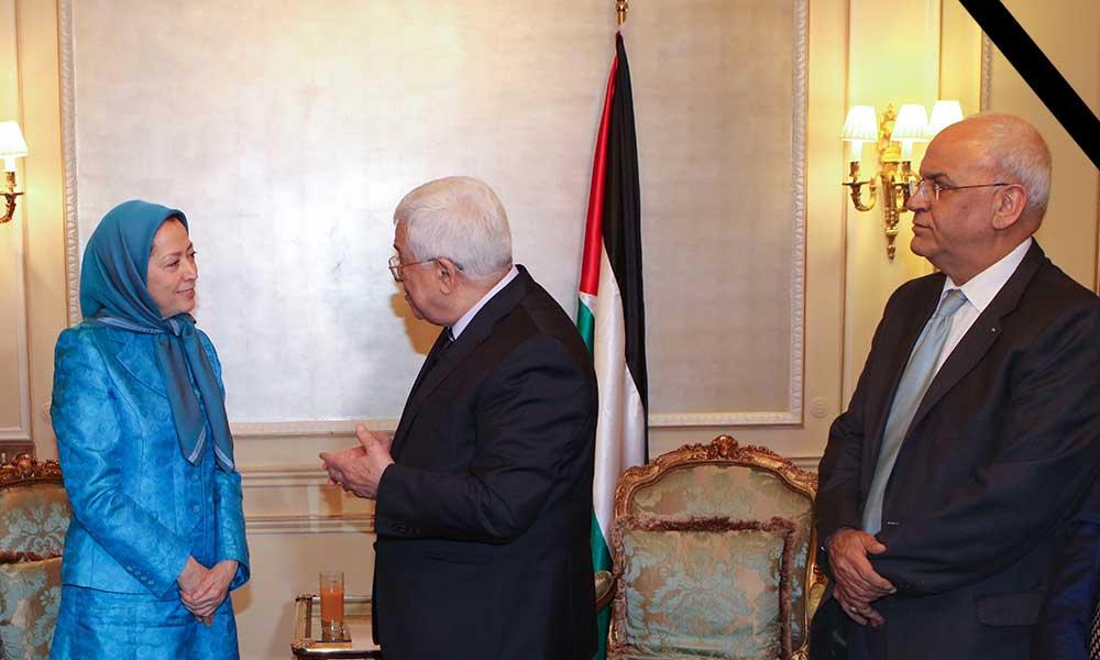 Condoléances pour le décès du Dr. Saeb Erekat, grand combattant et Secrétaire général de l'Organisation de libération de la Palestine (OLP)