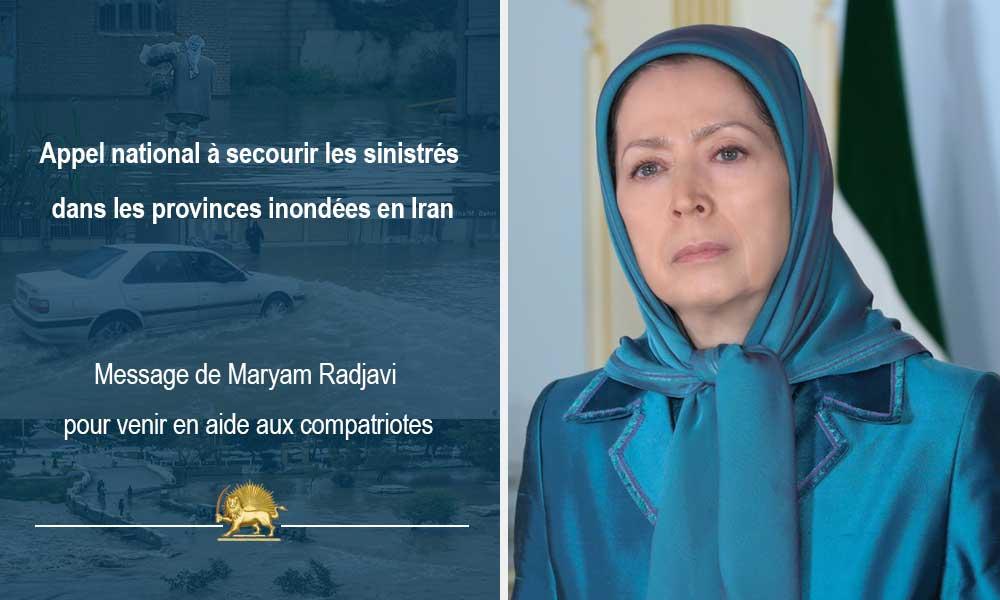 Appel national à secourir les sinistrés dans les provinces inondées en Iran