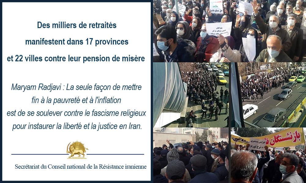 Des milliers de retraités manifestent dans 17 provinces et 22 villes contre leur pension de misère