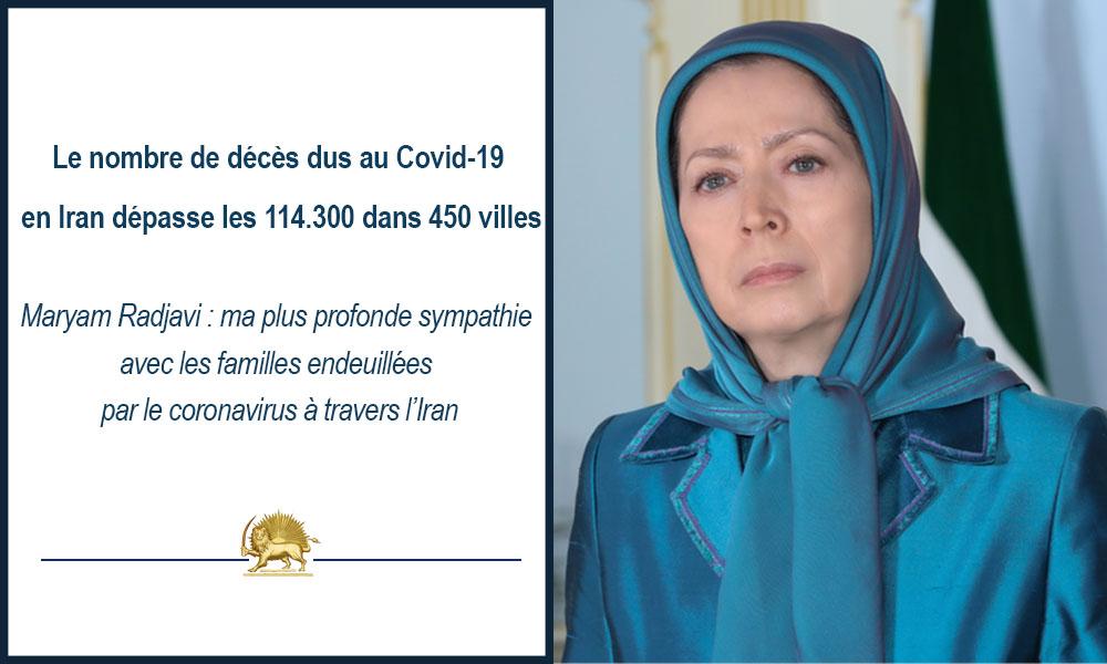 Le nombre de décès dus au Covid-19 en Iran dépasse les 114.300 dans 450 villes