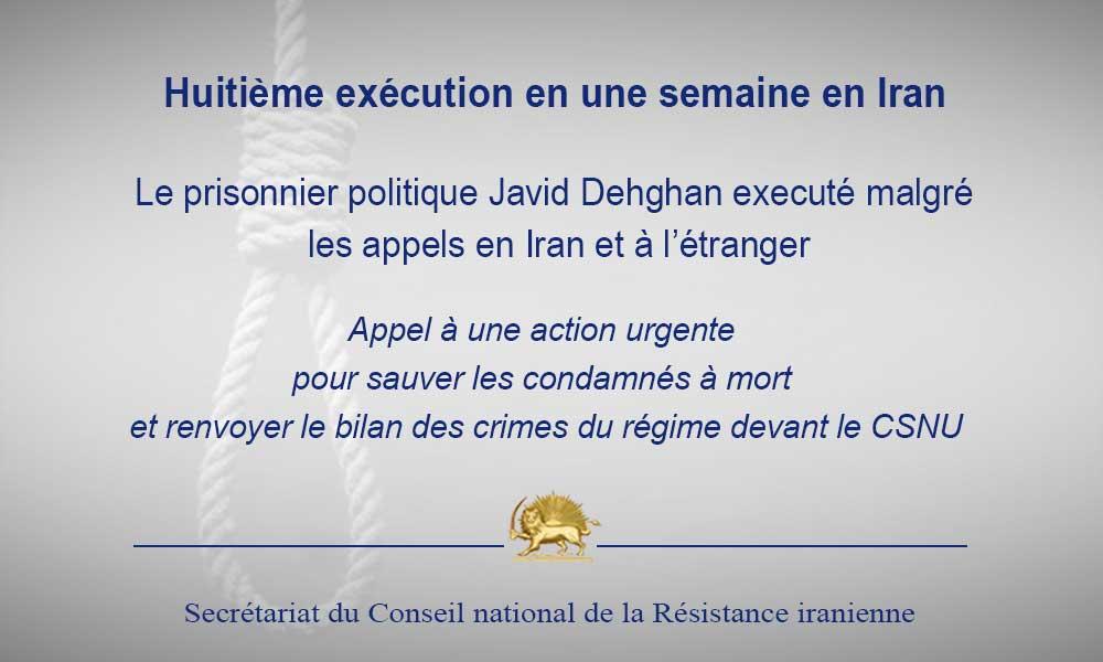 Huitième exécution en une semaine en Iran