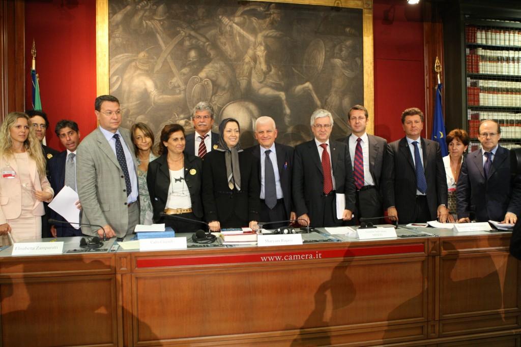 Iran : Intervention de Maryam Radjavi au parlement italien