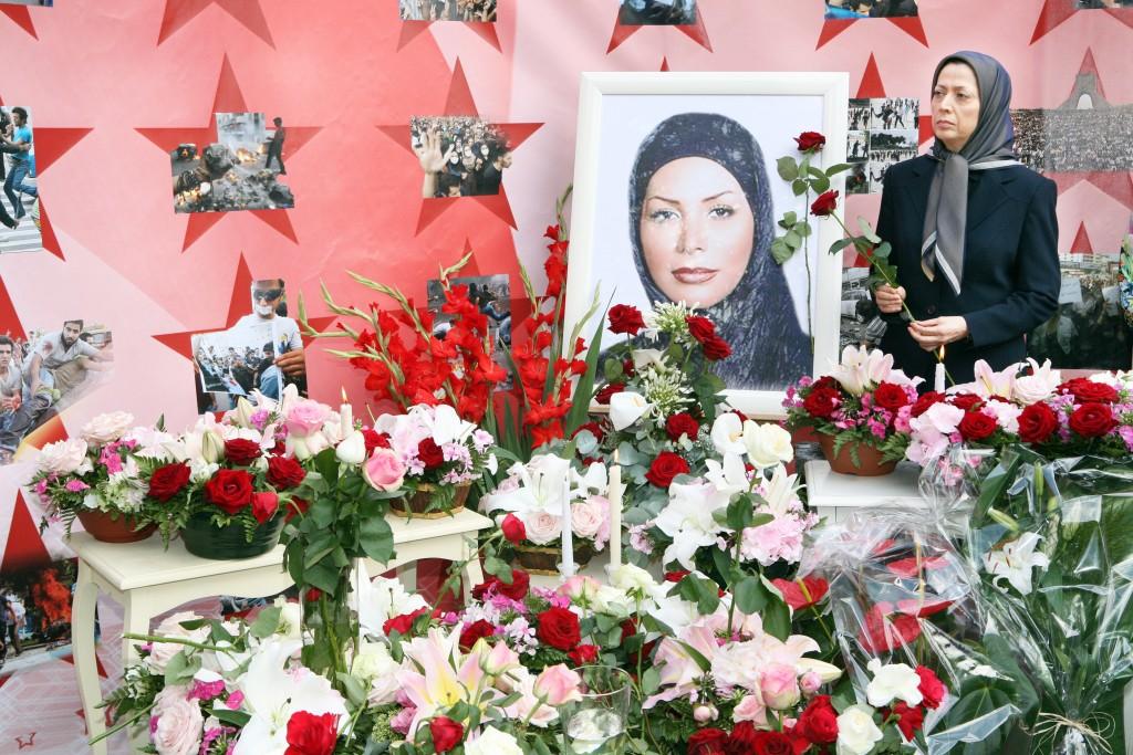 Cérémonie à Auvers-sur-Oise en mémoire de Neda