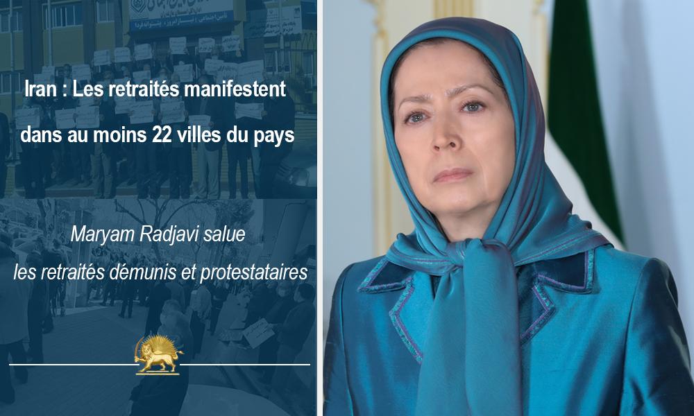 Iran : Les retraités manifestent dans au moins 22 villes du pays