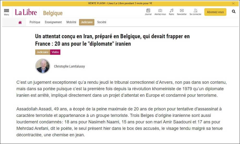 Un attentat conçu en Iran, préparé en Belgique, qui devait frapper en France : 20 ans pour le «diplomate» iranien