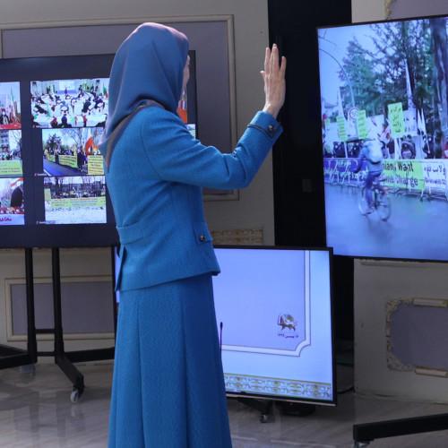 Maryam Radjavi à la Conférence internationale parallèlement à la condamnation du diplomate terroriste du régime iranien par un tribunal européen