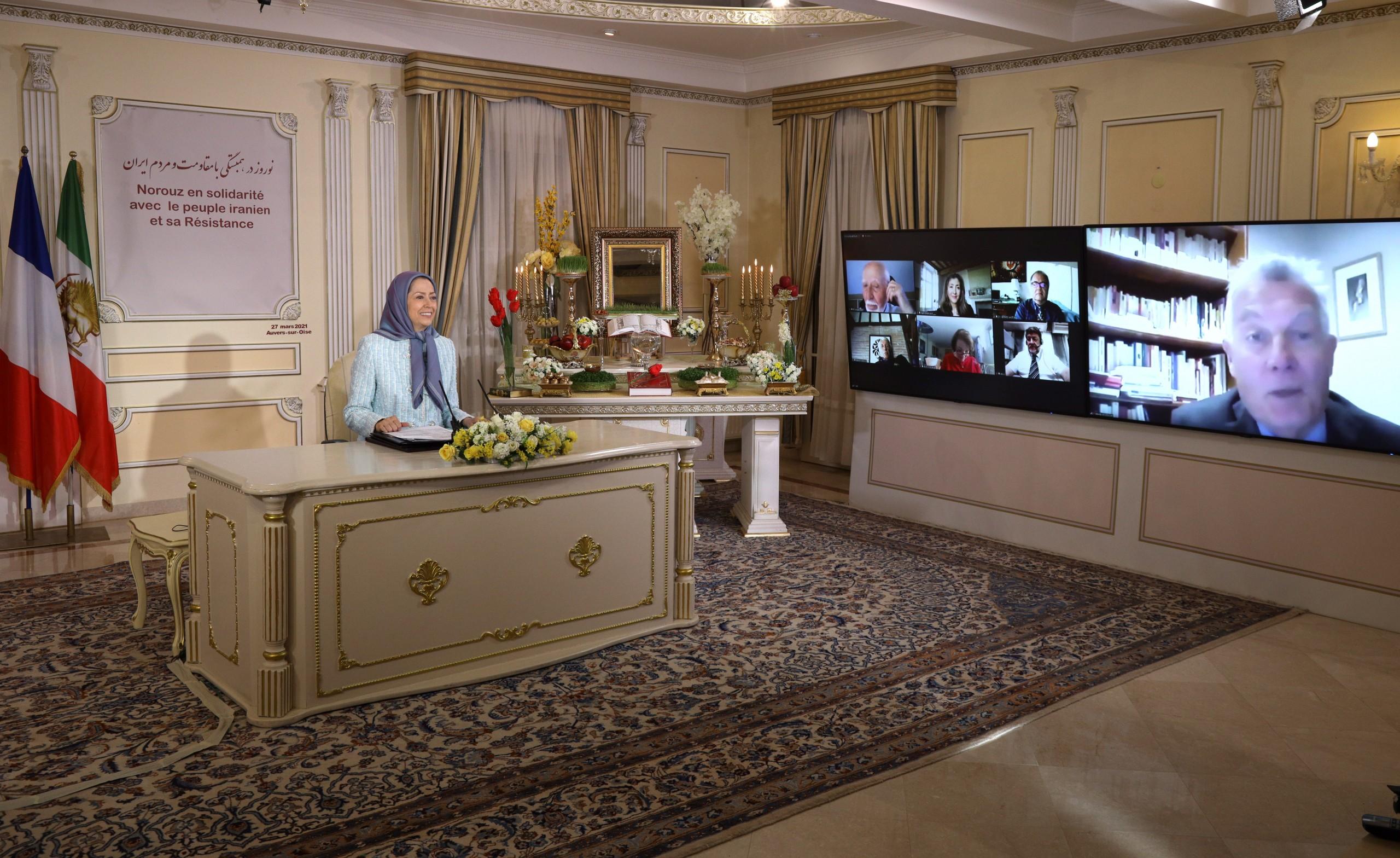 Maryam Radjavi : le peuple iranien attend de l'Europe de la fermeté vis-à-vis du régime iranien en défense des droits humains