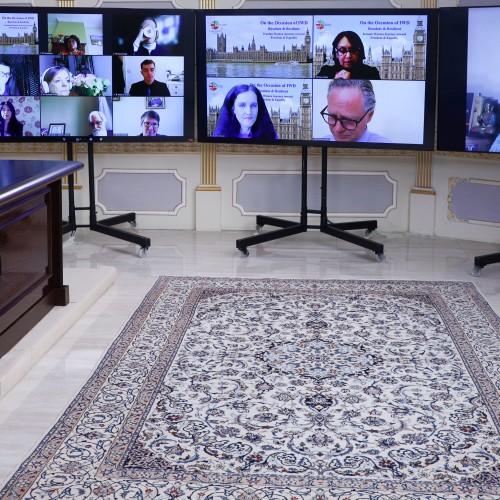 Ranjana Kumari intervenant dans une conférence en ligne pour la Journée internationale des femmes