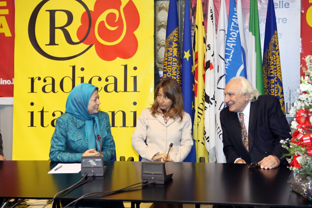 Iran-Italie : entretien de Maryam Radjavi, présidente du CNRI avec Marco Pannella