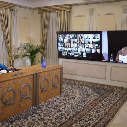 Discours de l'ayatollah Jalal Gandjeï, président de la commission de la Liberté des cultes, lors de la session intermédiaire du CNRI