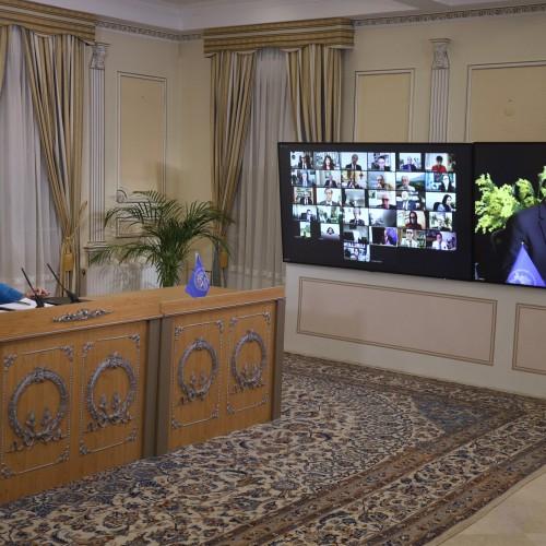 Discours de Sanabargh Zahedi, président de la commission de la Justice, lors de la session intermédiaire du CNRI