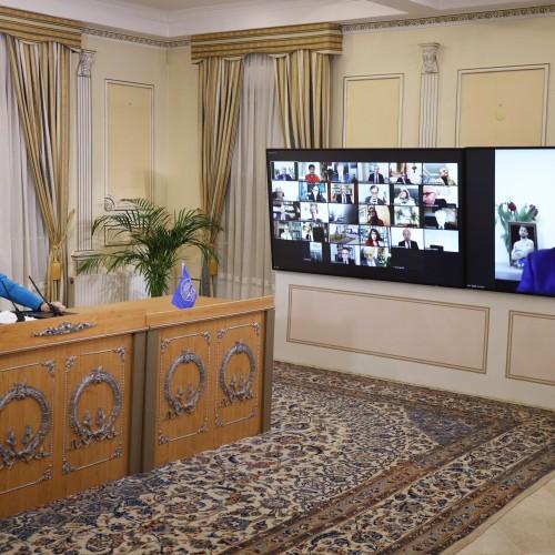 Discours de Bahram Mavedat, champion iranien de football, lors de la session intermédiaire du CNRI