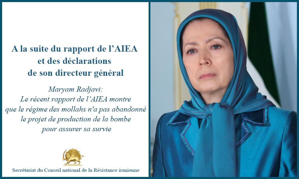 A la suite du rapport de l'AIEA et des déclarations de son directeur général