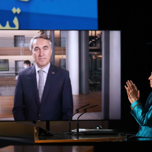 Discours de Petras Austrevicius, député au Parlement européen (de la Lithuanie), au second jour du sommet mondial en ligne pour un Iran libre- L'Europe et le monde arabe aux côtés de la Résistance - 11 juillet 2021