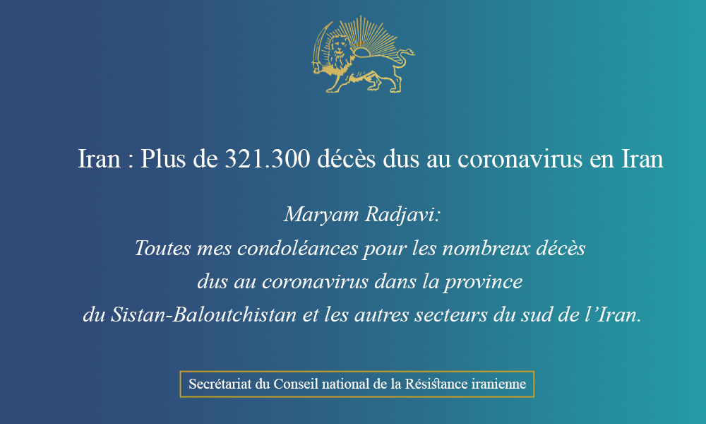 Iran : Plus de 321.300 décès dus au coronavirus en Iran