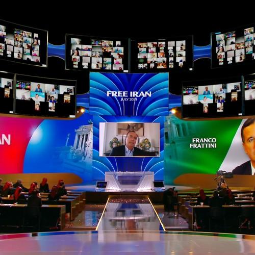 Discours de Franco Frattini, ministre des AQffaires étrangères de l'Italie (2008-2011) & (2002 –2004), Commissaire européen pour la Justice, la Liberté et la sécurité - premier jour du sommet mondial pour un Iran Libre – L'alternative démocratique en marche vers la victoire- 10 juillet 2021