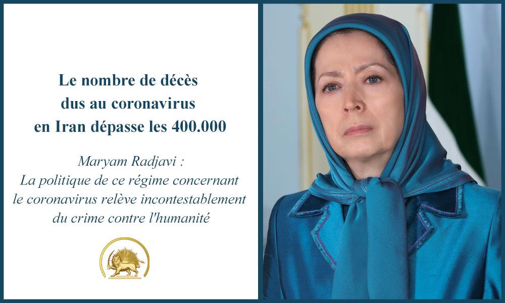 Le nombre de décès dus au coronavirus en Iran dépasse les 400.000