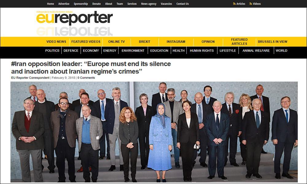 رهبر اپوزیسیون ایران: اروپا باید سکوت و بیعملی خود را در قبال جنایات رژیم پایان دهد