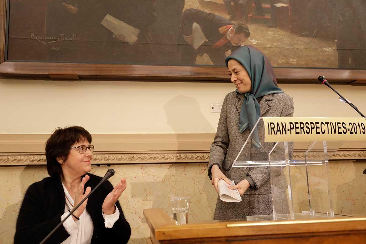 کنفرانس در مجلس ملی فرانسه سخنرانی مریم رجوی