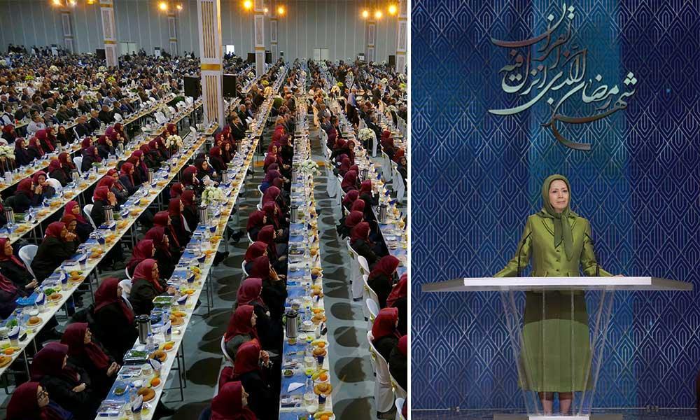 سخنان مریم رجوی در افطار ماه مبارک رمضان