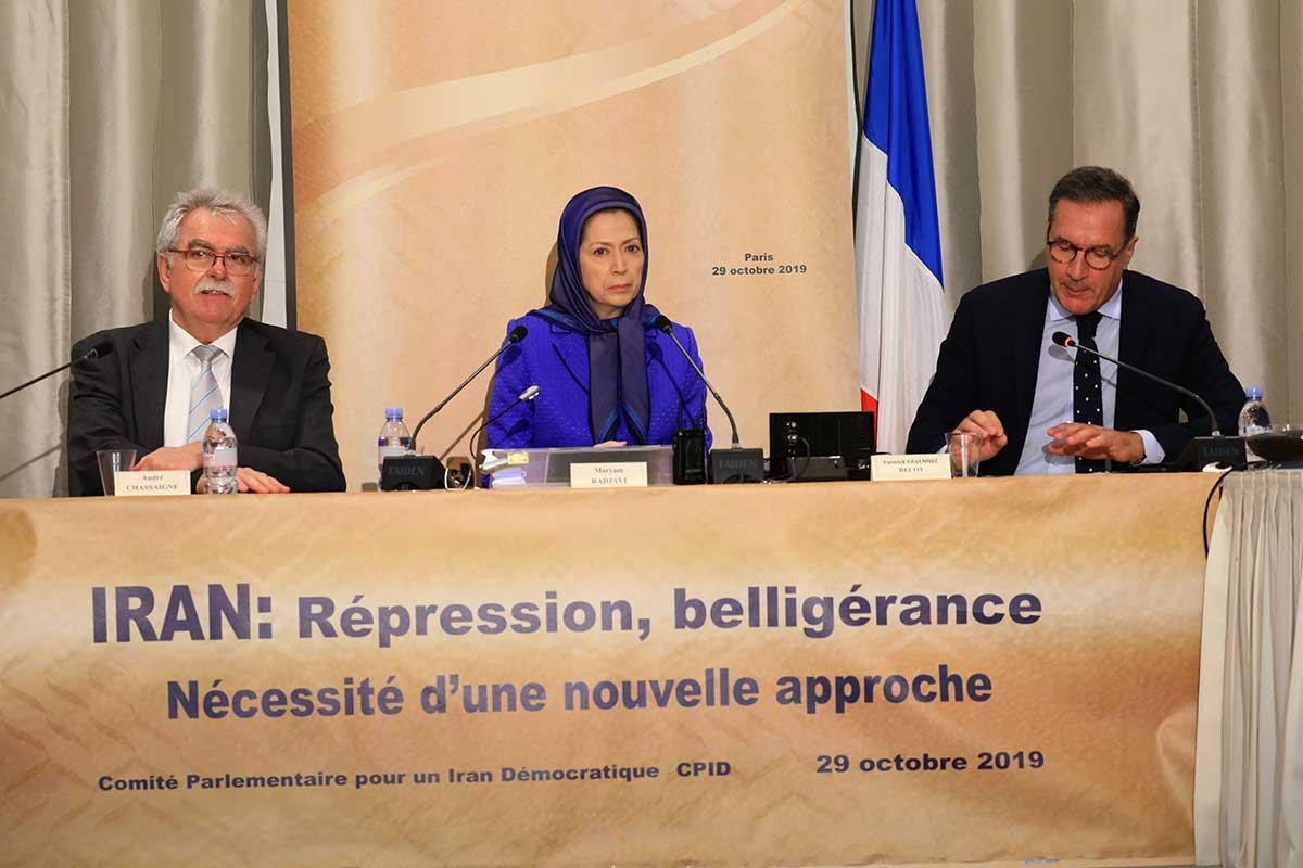 مریم رجوی: سیاست اروپا و فرانسه باید در طرف مردم ایران و خواستهای مشروع آنان برای آزادی باشد