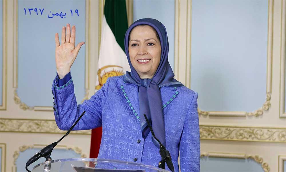 پیام مریم رجوی به تظاهرات ایرانیان در پاریس: شما فریاد هرایرانی برای آزادی، جمهوری، دمکراسی و سرنگون