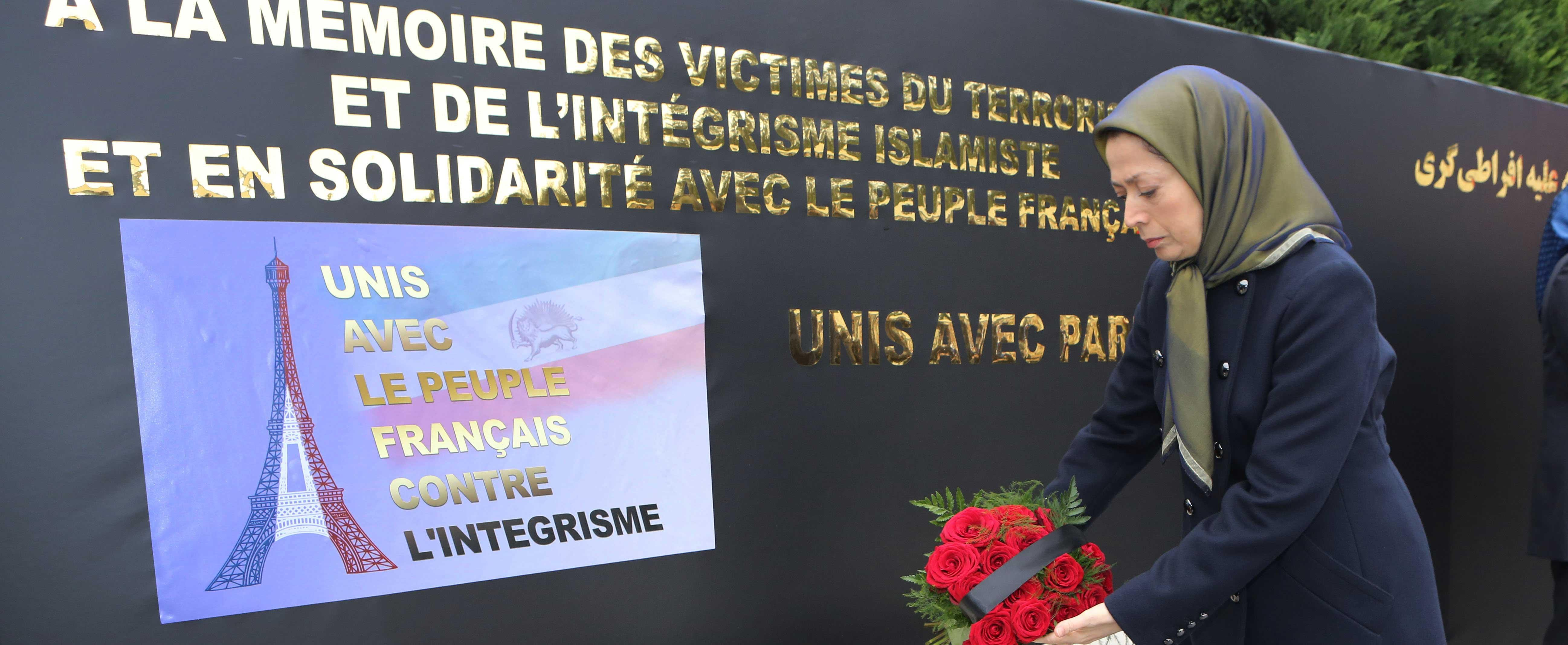 Maryam-Rajavi-in-the-ceremony-paying-homage-to-victims-of-Paris-terrorist-attack