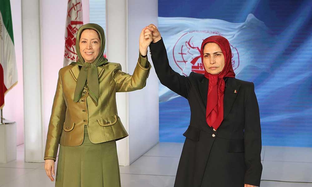 انتخاب خواهر مجاهد زهرا مریخی به عنوان مسئول اول در اجتماع بزرگ مجاهدین خلق ایران به مناسبت پنجاه و