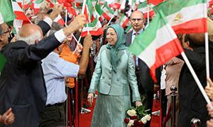 Large crowds of Iranians celebrated the successful conclusion of Camp Liberty