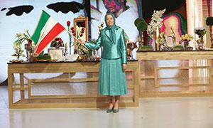 Maryam Rajavi In a gathering celebrating the Iranian New Year