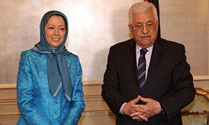 Maryam Rajavi met with President of the Palestinian Authority Mahmoud Abbas Saturday evening