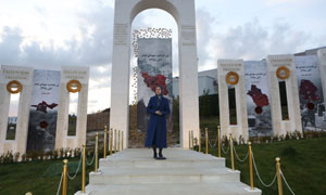 Maryam Rajavi at the commemoration ceremony of martyrs of the Iran uprising November 2019