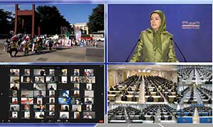 Maryam Rajavi addresses a conference held on the eve of the UN General Assembly Summit September 18 2020
