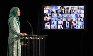 Maryam Rajavi at the 40th anniversary of the start of Iranian peoples nationwide resistance Day of Martyrs and Political Prisoners June 20 2020