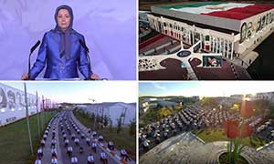 Maryam Rajavi at the Call for Justice virtual conference in the Free Iran Global Summit 300