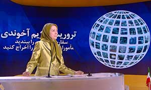 Maryam Rajavi at the third session of the Free Iran Global Summit