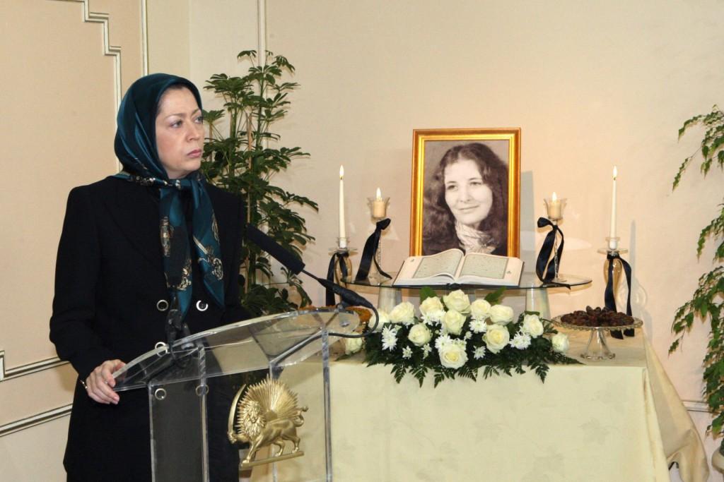 یادبود خانم نضره غزالی همسر نخست وزیر پیشین الجزایر