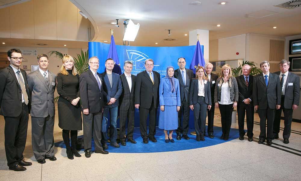 سخنرانی مریم رجوی در كنفرانس پارلمان اروپا