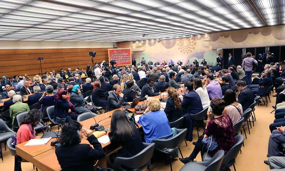 سخنرانی در اجلاس بین المللی در مقر ملل متحد در ژنو