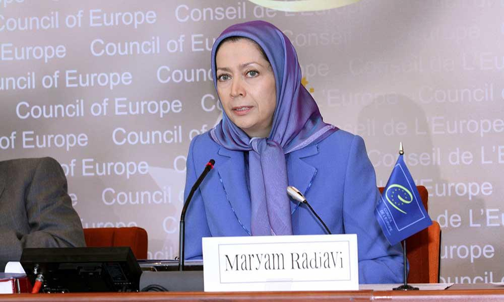 سخنرانی مریم رجوی در مجمع پارلمانی شورای اروپا در استراسبورگ