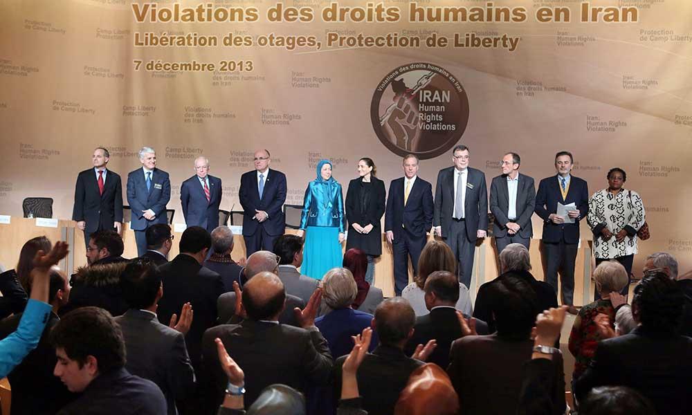 سخنرانی مریم رجوی در كنفرانس بین المللی در پاریس در آستانه روز جهانی حقوق بشر