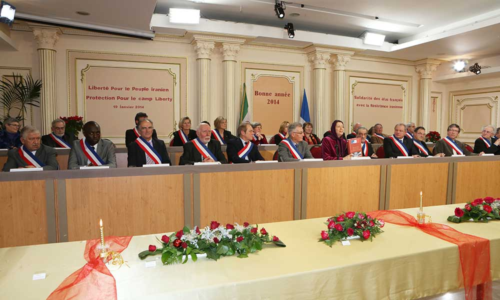 سخنرانی مریم رجوی در گردهمایی شهرداران و منتخبان مردم فرانسه بهمناسبت سال نو میلادی
