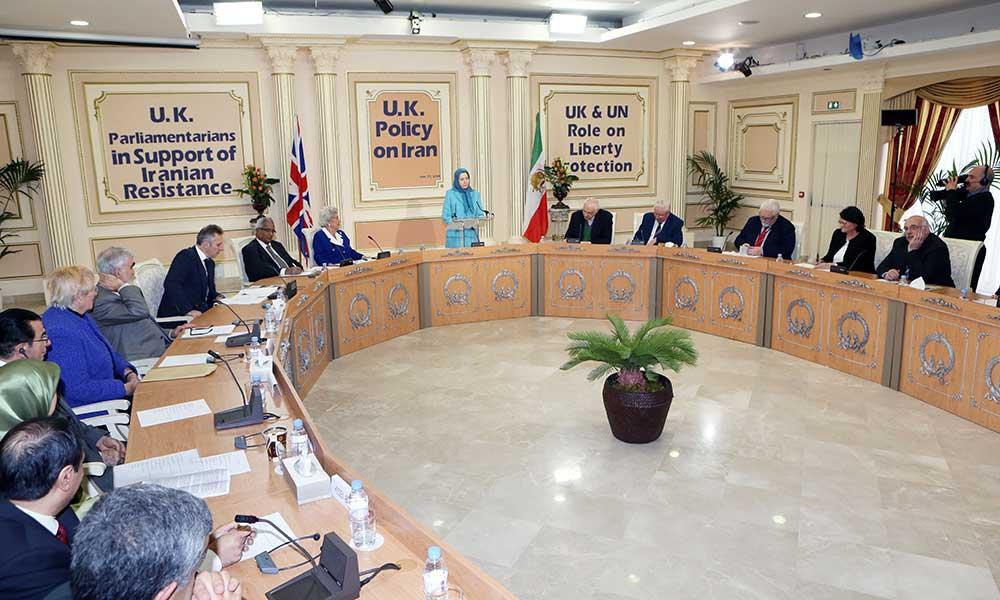 سخنرانی مریم رجوی در كنفرانس نمایندگان برجسته مجلسین انگلستان